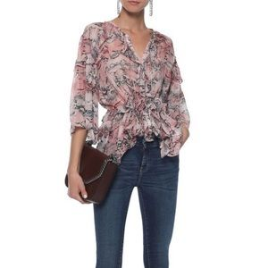 IRO open back blouse